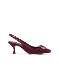 Escarpins en daim bordeaux Dolce & Gabbana