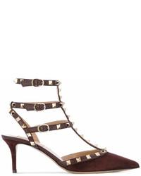 Escarpins en daim bruns foncés Valentino