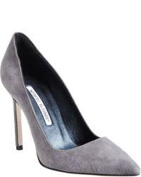 Escarpins en daim gris
