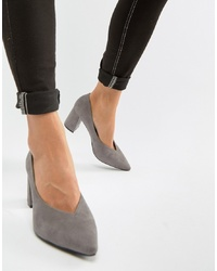 Escarpins en daim gris Glamorous