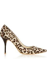 Escarpins en daim imprimés léopard bruns clairs Webster