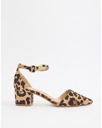 Escarpins en daim imprimés léopard marron clair RAID