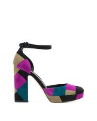 Escarpins en daim multicolores Salvatore Ferragamo