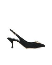 Escarpins en daim noirs Dolce & Gabbana