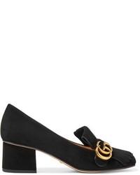 Escarpins en daim noirs Gucci