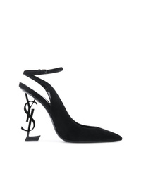 Escarpins en daim noirs Saint Laurent