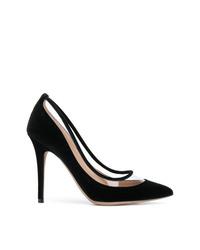 Escarpins en daim noirs Valentino