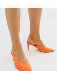 Escarpins en daim orange ASOS DESIGN