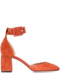 Escarpins en daim orange RED Valentino