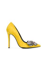 Escarpins en daim ornés jaunes Ermanno Scervino