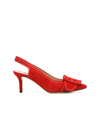 Escarpins en daim rouges Casadei