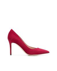 Escarpins en daim rouges Giorgio Armani
