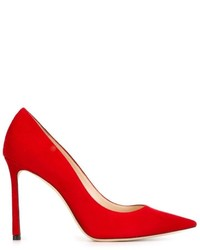 Escarpins en daim rouges Jimmy Choo