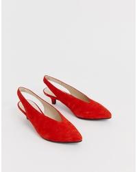 Escarpins en daim rouges Vagabond
