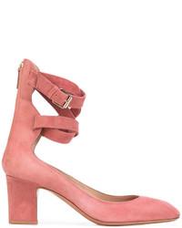 Escarpins en daim rouges Valentino Garavani