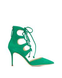 Escarpins en daim verts Giuseppe Zanotti Design