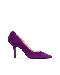 Escarpins en daim violets Anna F.