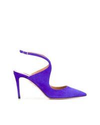 Escarpins en daim violets Aquazzura
