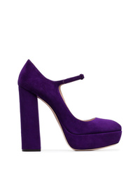 Escarpins en daim violets Miu Miu
