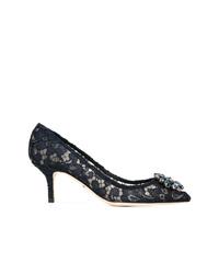 Escarpins en dentelle noirs Dolce & Gabbana