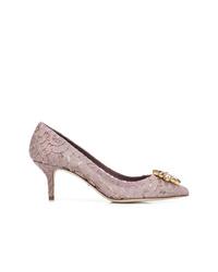 Escarpins en dentelle violet clair Dolce & Gabbana
