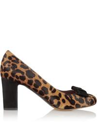 Escarpins en poils de veau imprimés léopard marron clair Tabitha Simmons