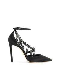 Escarpins en satin noirs Off-White