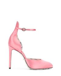 Escarpins en satin roses Gucci