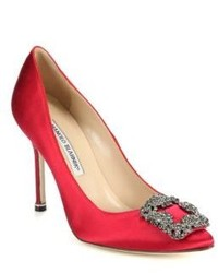 Escarpins en satin rouges