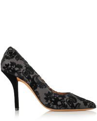 Escarpins en toile noirs Givenchy