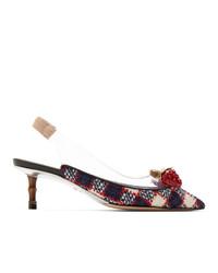 Escarpins en tweed multicolores Gucci