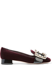 Escarpins en velours bordeaux Miu Miu