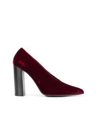 Escarpins en velours bordeaux Stella McCartney