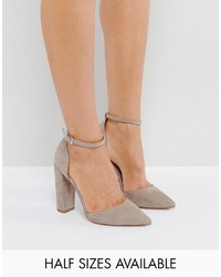 Escarpins gris Asos
