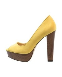 Escarpins jaunes Even&Odd