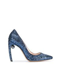 Escarpins pailletés bleus