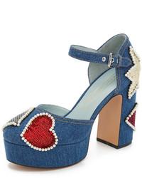Escarpins pailletés bleus Marc Jacobs