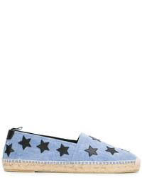 Espadrilles à étoiles bleu clair Saint Laurent