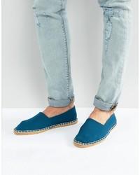 Espadrilles à rayures horizontales bleues claires Asos