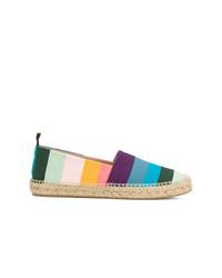 Espadrilles à rayures horizontales multicolores Paul Smith
