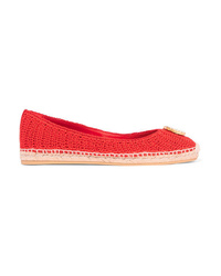 Espadrilles en crochet rouges Gucci
