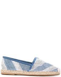 Espadrilles en cuir bleu clair Ermanno Scervino