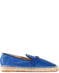 Espadrilles en cuir bleues