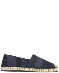 Espadrilles en cuir camouflage bleu marine Valentino Garavani