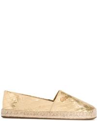 Espadrilles en cuir dorées MICHAEL Michael Kors