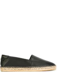 Espadrilles en cuir noires Givenchy