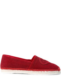 Espadrilles en cuir rouges Dsquared2