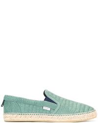 Espadrilles en cuir vert menthe Jimmy Choo