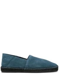 Espadrilles en daim bleu canard Tom Ford