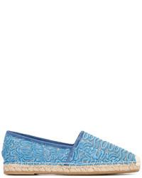 Espadrilles en daim bleu clair Ermanno Scervino
